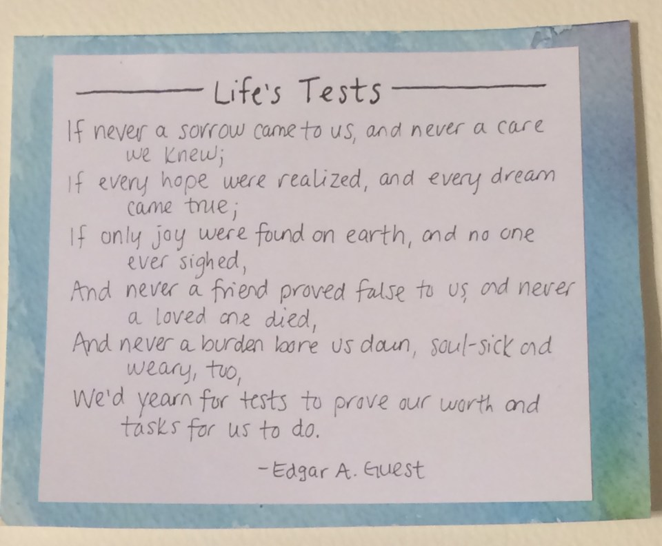 Life's Tests