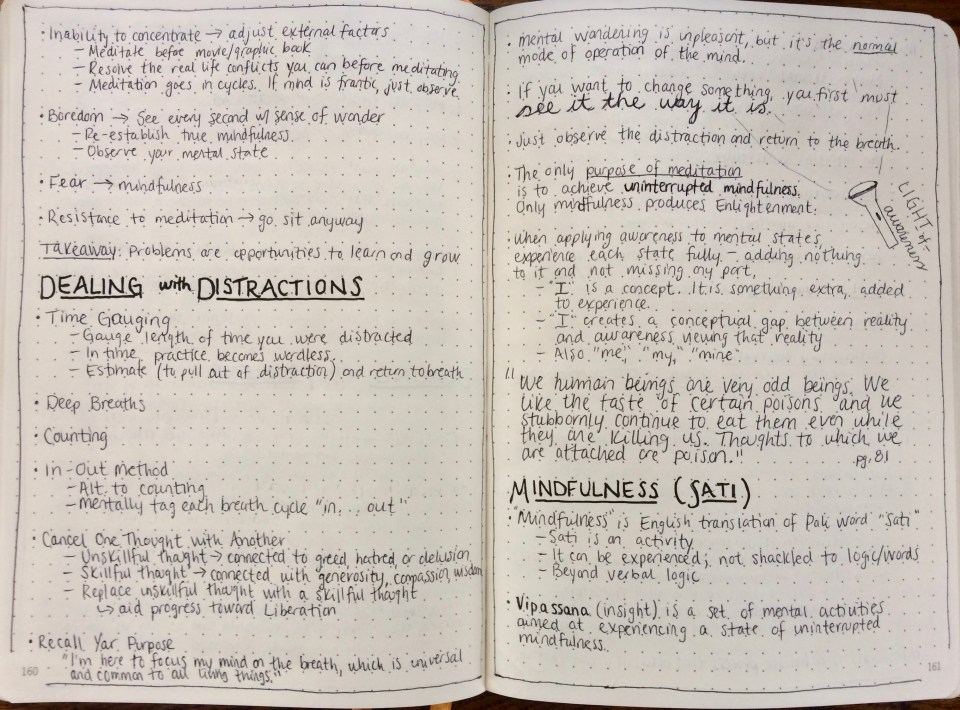 MIndfulness in Plain English Notes 6