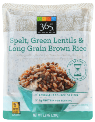 365 lentils and brown rice