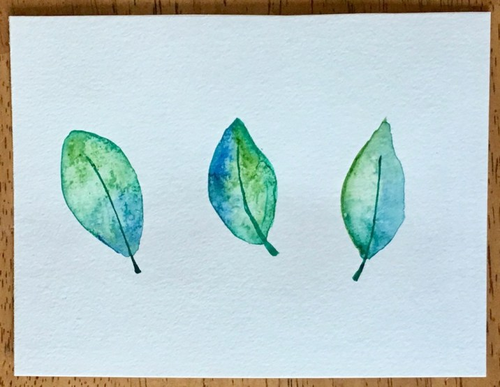 Watercolor Leaves Postcards