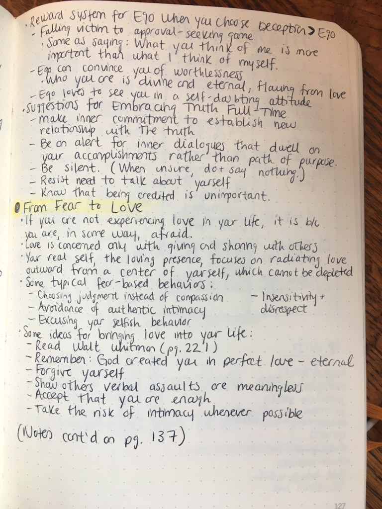 your sacred self book notes