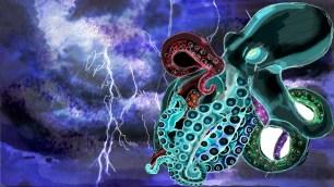 octopus-on-lightning
