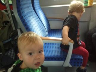 Im Zug nach Nürnberg / On the train to Nuremberg