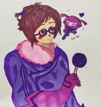 Mei and her ever-so adorable robot! <3