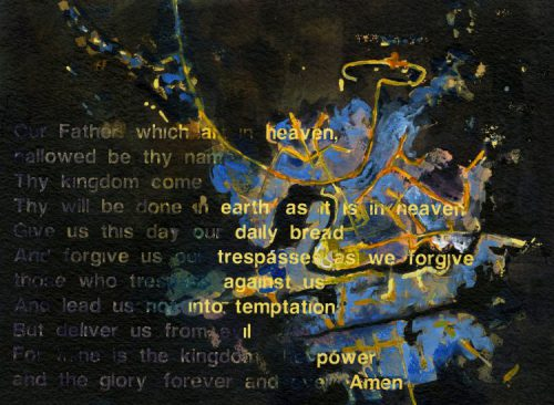 Lord's Prayer from Compline series, Acrylic on paper