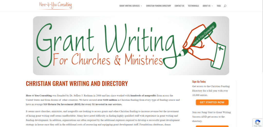 Grant Writing Site