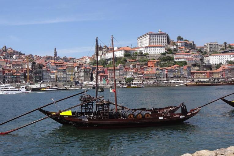 View of Porto from Vila Nova de Gaia across the Douro from Porto