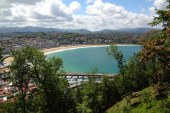 Panorama View of the Bahia de la Concha San Sebastian