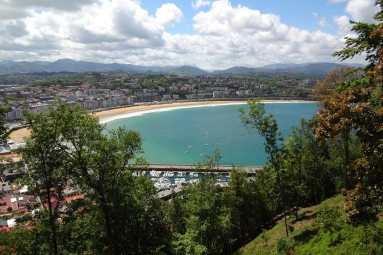 San Sebastian from Mount Urgull