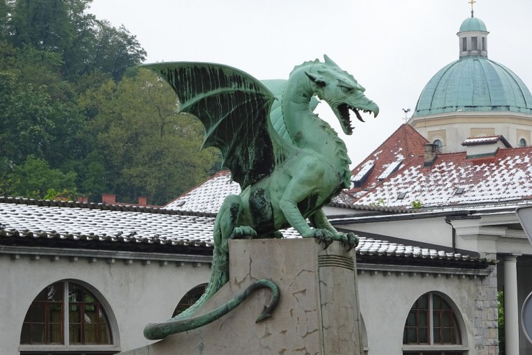 Ljubljana Dragon Bridge dragon