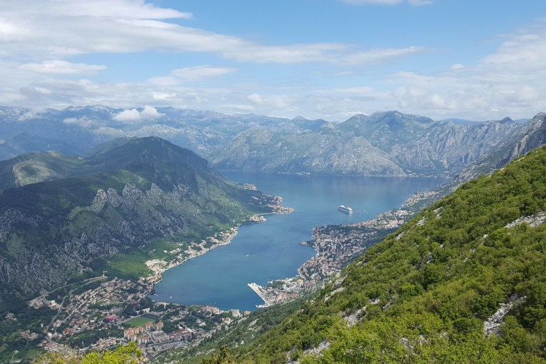 Spectacular views of the Bay of Kotor from the Serpentine Road