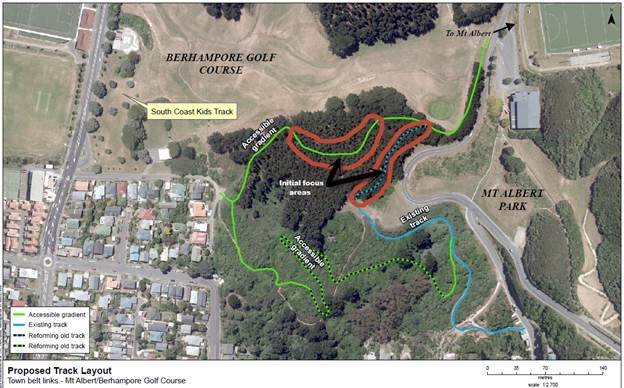Mt Albert Track Links map