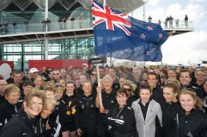 Triathlon World Champs parade with Garth Barfoot - Auckland 2012
