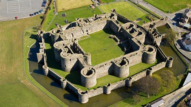 BeaumarisAerial North Castles Historic Sites