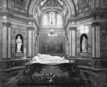 The royal mausoleum, Frogmore, 1901.Artist: HN King