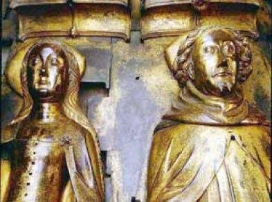 Tomb effigies of Richard II and Anne of Bohemia