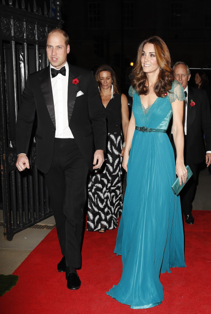 Teal Jenny Packham Gown