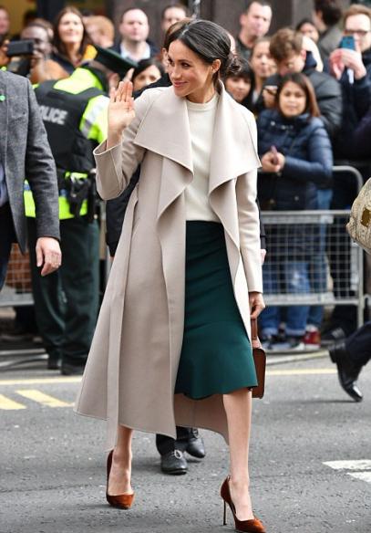 taupe mackage coat & greta constantine skirt