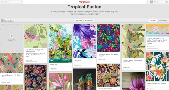 Tropical Fusion Moodboard by Rebecca Stoner www.rebeccastoner.co.uk
