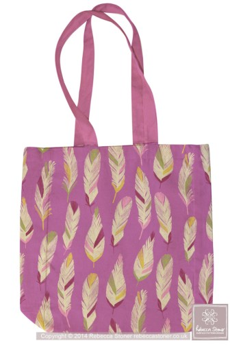 Tropical Feathers Bag © Rebecca Stoner www.rebeccastoner.co.uk