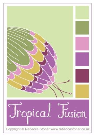 Tropical Fusion Colour Palette © Rebecca Stoner www.rebeccastoner.co.uk