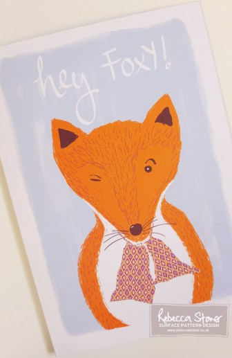 Hey Foxy by Rebecca Stoner www.rebeccastoner.co.uk