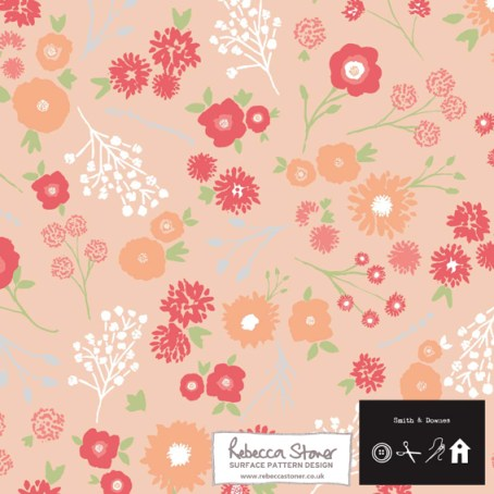 Ditsy Floral Trim by Rebecca Stoner for Smith and Downes www.rebeccastoner.co.uk