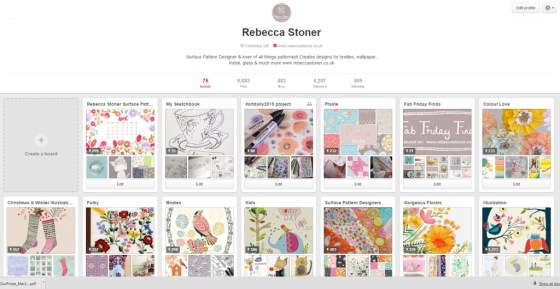 Pinterest Account - Rebecca Stoner www.rebeccastoner.co.uk