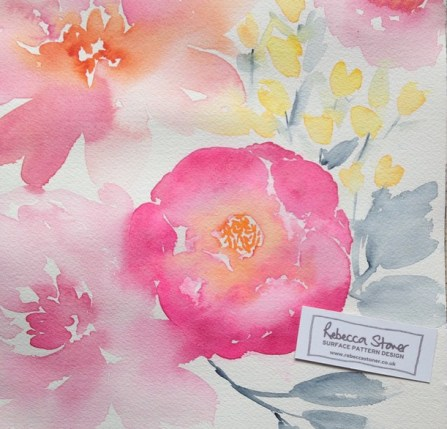 Watercolour Florals by Rebecca Stoner www.rebeccastoner.co.uk