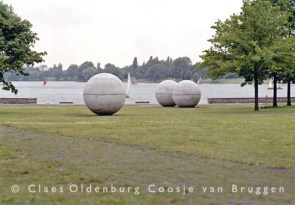Pool Balls :Reinforced concrete Three balls, each 11 ft. 6 in. (3.5 m) diameter Commissioned September 1976