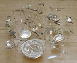 Thirty Pieces of Silver 1988-9 Cornelia Parker born 1956 Purchased with assistance from Maggi and David Gordon 1998 http://www.tate.org.uk/art/work/T07461