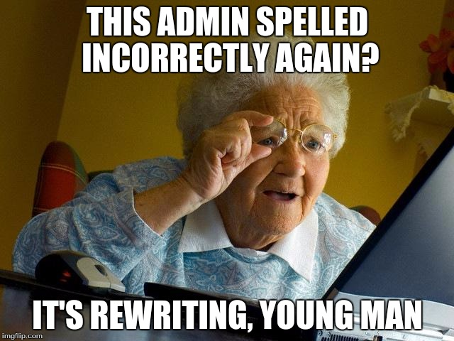 grandma rewriting