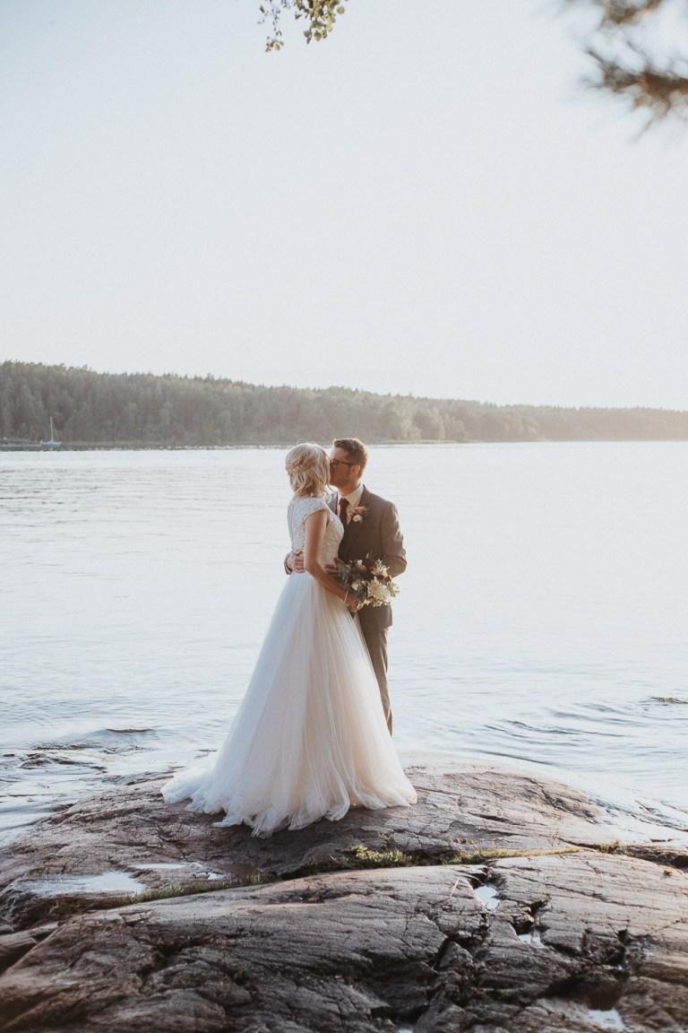 bröllopsfotograf golden hour