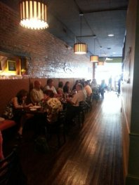 A typical mid-day crowd at 40 East Grill.