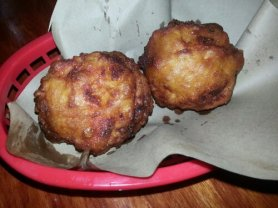 Hawg Balls. Translation? Fried mac & cheese.