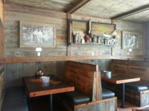 Each booth seats four comfortably.