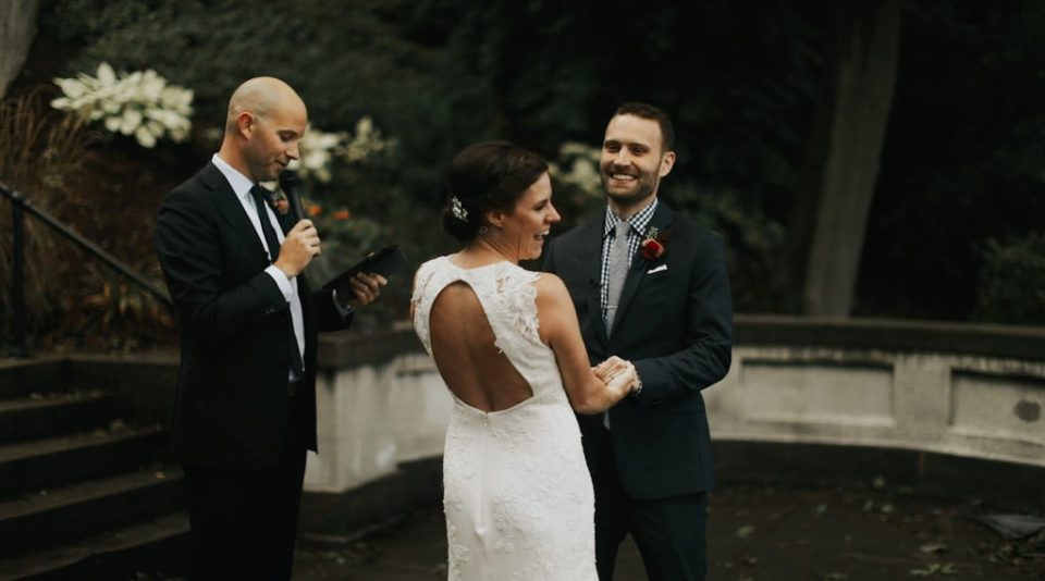 wedding footage of vows during ceremony