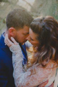 couple's golden hour romantic photo