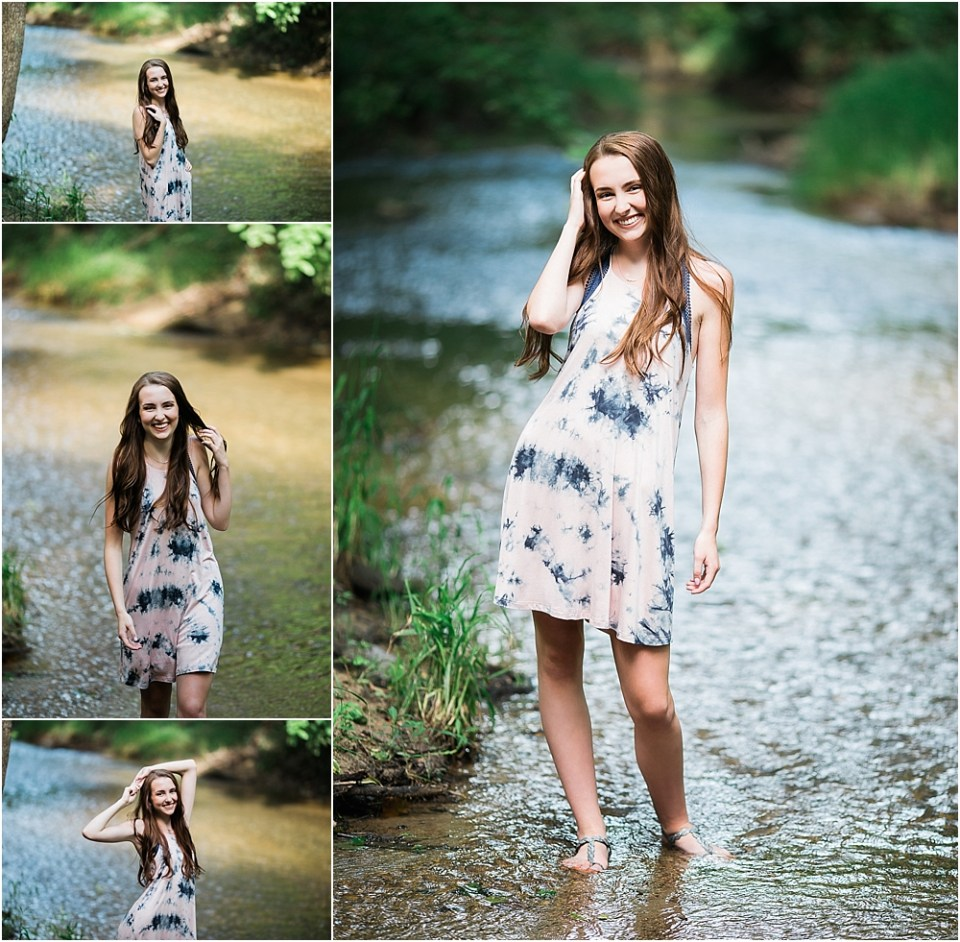 senior photo session in lake