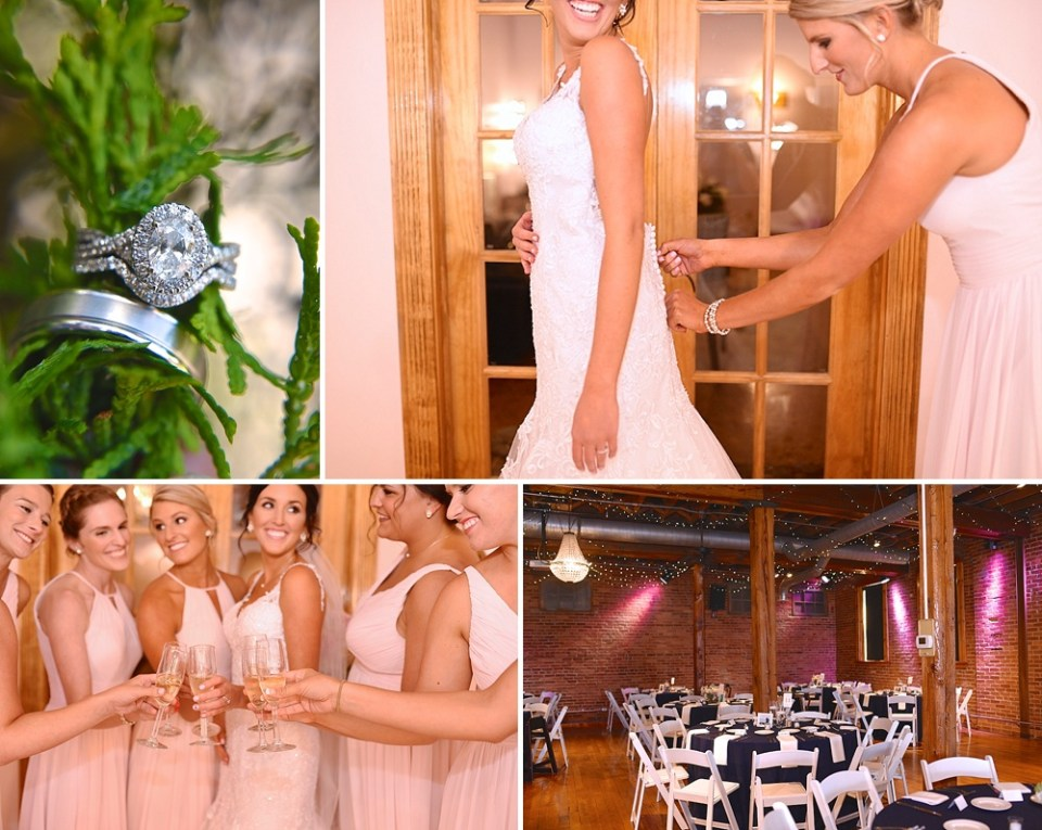 blush pink bridesmaid gowns