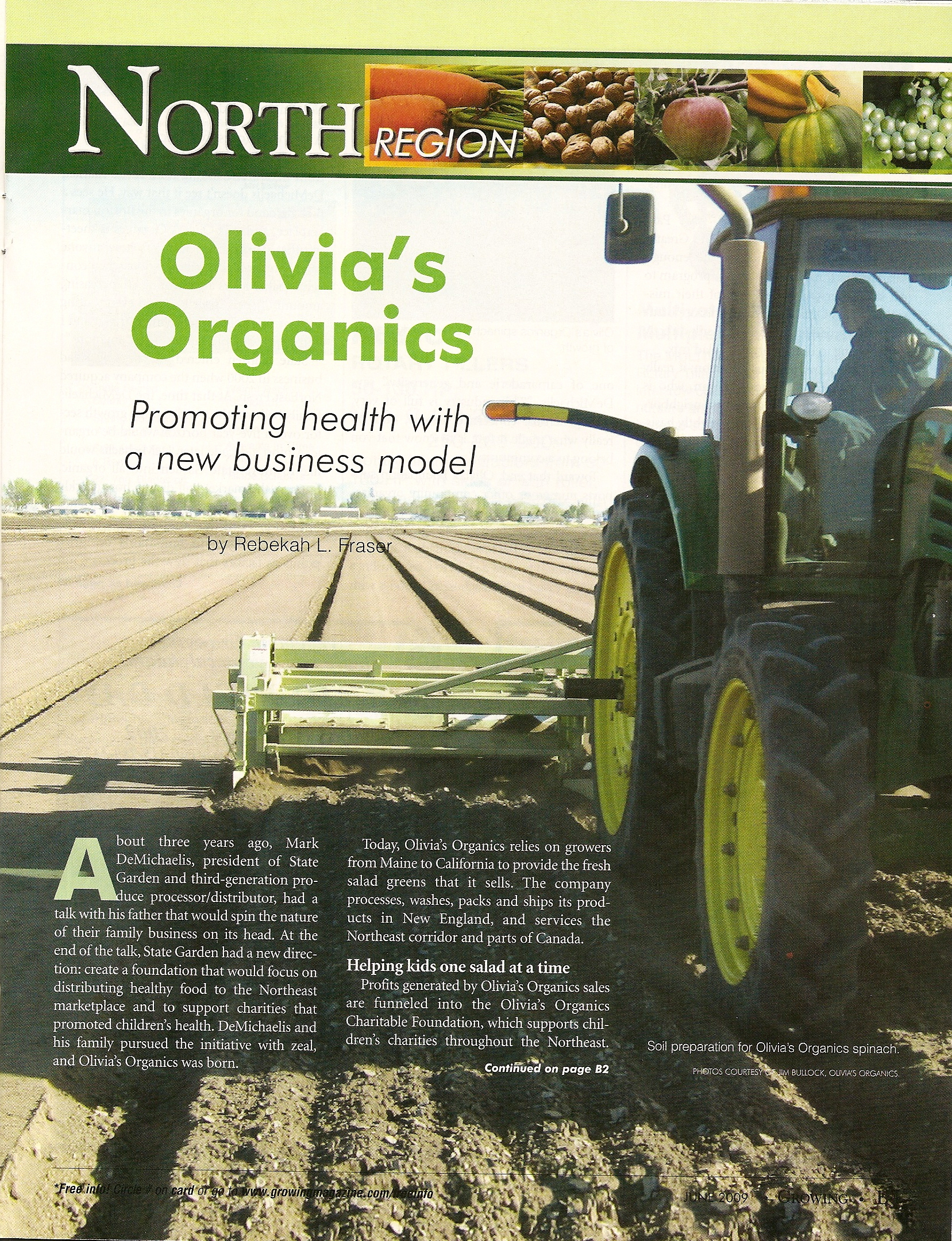Growing- June 09 - Olivias Organics
