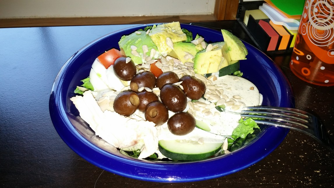 cobb salad, paleo, whole 30 challenge