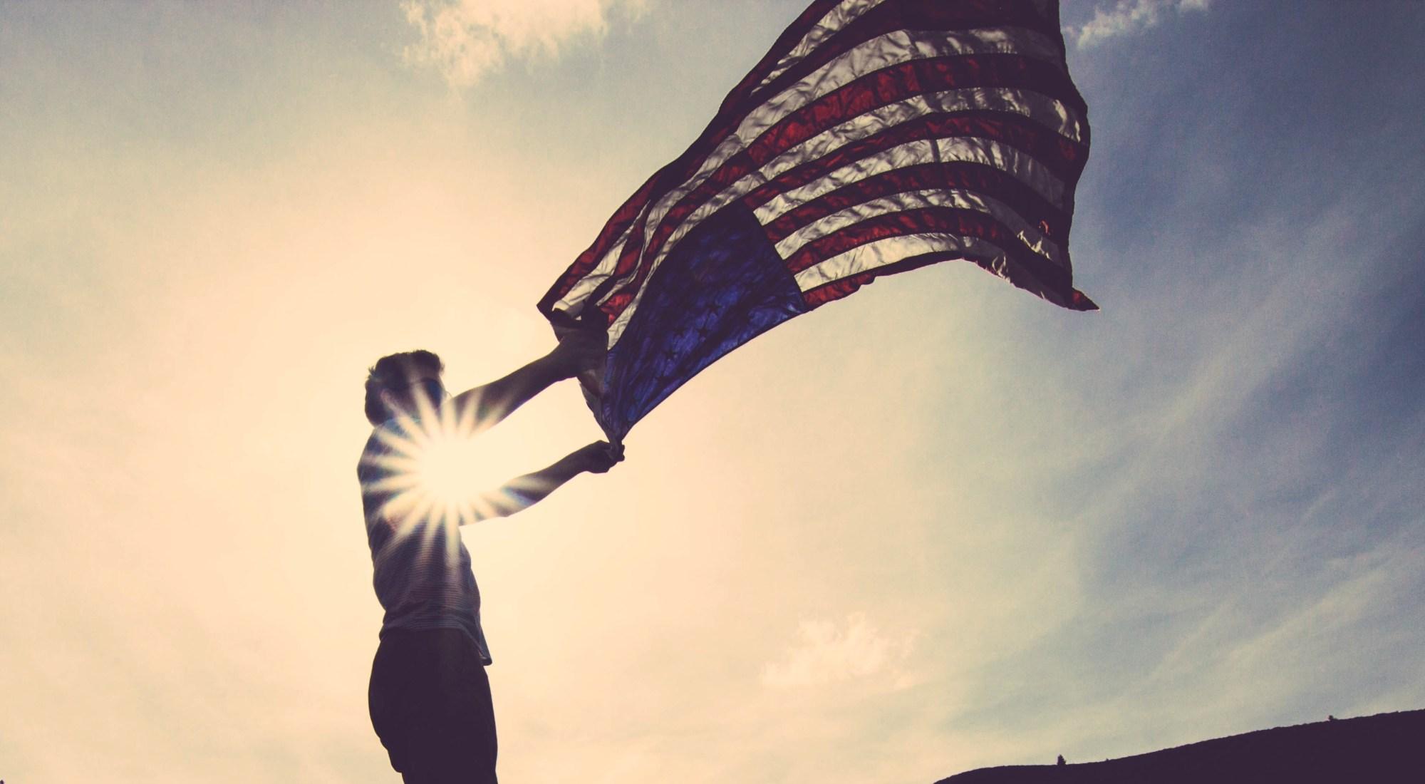 american flag, distress signal, Dear America open letter, never Trump, broken hearted, politics