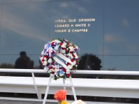 A wreath was laid by Apollo 1 family members.