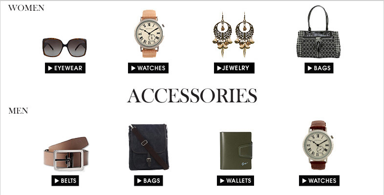 Give your style a new definition with our wide range of accessories  Best Online Department