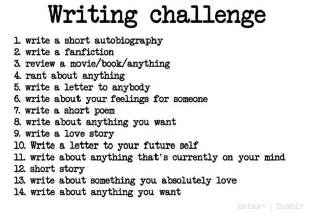 New Writing Challenge