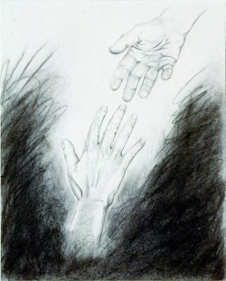 art, graphite, hands, reaching, Artwork, drawing, figurative, painting