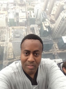 Samuel Ranger on the Skydeck of the Willis tower