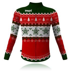Knight Sportswear-Christmas-Jumper-Cycling-Shirt-Long-Front