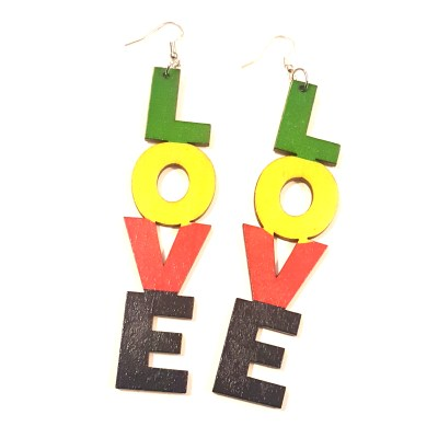 black love rasta garvey wood earrings rebeljewel rebel jewel
